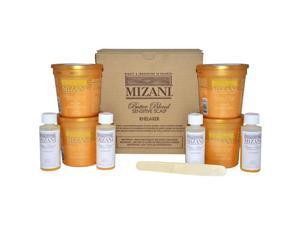 Butter Blend Sensitive Scalp Rhelaxer Kit - 4 Applications 4 x 7.5oz Sensitive Scalp Rhelaxer Base, 4 x 2oz Sensitive Scalp Activator, 4 Wooden Spatulas