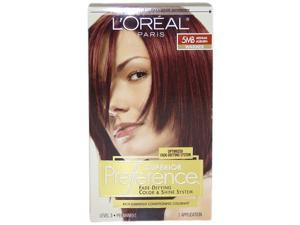 Superior Preference Fade-Defying Color # 5MB Medium Auburn- Warmer by L'Oreal Paris for Unisex - 1 Application Hair Color