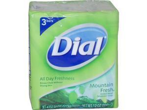 Mountain Fresh Antibacterial Deodorant Soap - 3 x 4 oz Soap