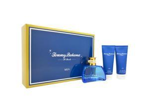 Tommy Bahama Set Sail St. Barts by Tommy Bahama for Men - 3 Pc Gift Set 3.4oz EDC Spray, 3.4oz After Shave Balm, 3.4oz Shower Gel