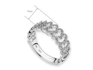 18K Rose & White Gold Heart Shape Diamond Stack Ring (0.29ct,G-H Color,VS2-SI1 Clarity)