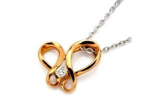 """18K/750 Rose Gold Dancing Diamond Pendant With 925 Sterling Silver Chain 18"""" (0.04 carats, G-H color, good SI1-2 Clarity)"""