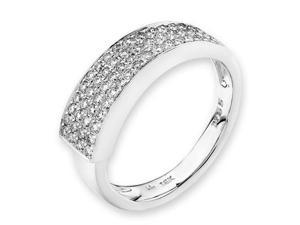 18K/750 White Gold Pave-Setting Bridal Diamond Ring (0.38cttw, G-H Color, VS2-SI1 Clarity, Ring Size US 6.5)