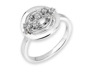 18K/750 White Gold Round Diamond Cocktail Ring US 6.0 (0.20cttw, G-H Color, VS2-SI1 Clarity)