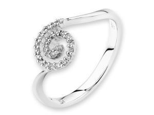 18K/750 White Gold Snail Shape Diamond Ring (0.13 cttw, G-H Color, VS2-SI1 Clarity)