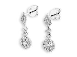 18K White Gold Halo Solitaire Diamond Stud Earrings (0.66 cttw, G-H Color, SI1-SI2 Clarity)