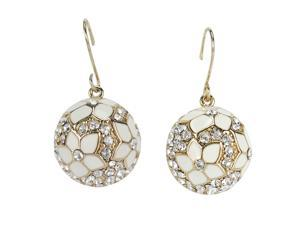 JA-ME CZ with Enameling drop Earring in Rhodium plated.