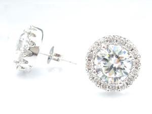 JA-ME H&A CZ(8mm) Pierced Earring