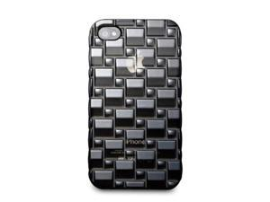 Acase iPhone 4 / 4S Splendid 3D TPU Skin Case, BLACK (Fits AT&T, Sprint and Verizon iPhone 4 and 4S)