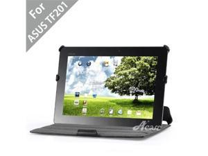 Acase(TM) Leather Case Folio with multi view Stand for ASUS TF201 Eee Pad Transformer Prime 10.1-Inch 32GB / 64GB (Black)