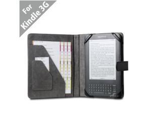 "Acase(TM) Kindle 3 Professional Leather Case (Black) (Fits 6"" Display, Latest Generation Kindle)"