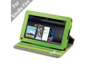 """Acase(TM) Kindle Fire Premium Micro Fiber Leather Case with built-in Stand for Kindle Fire Full Color 7"""" Multi-touch Display, Wifi (Green)"""
