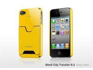 SHIELD iShell City Traveller S2 Ultra-Slim Polycarbonate Credit Card Case (Yellow) for iPhone 4 / 4S
