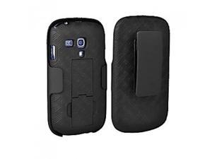 Oem Verizon Shell Holster Combo Case for Samsung Galaxy S3 Mini with Kick-stand