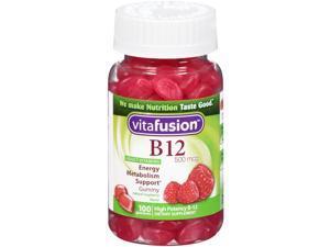 Vitafusion Energy B12 Very Raspberry  500 Mcg  100 Gummies