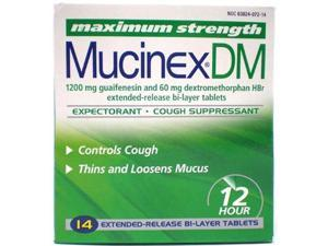 DM Max Strength Expectorant and Cough Suppressant 14 Tablets/Box