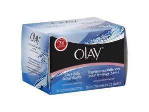 Olay Facial Cloths, 2-in-1 Daily, Normal, 33 ct.