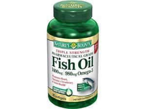 Nature's Bounty Triple Strength  One-per-day Fish Oil 1400 mg, 980 mg Omega-3, 39 Softgels