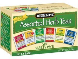 Bigelow 6 Assorted Herbal Teas, 18-Count Boxes (Pack of 6)