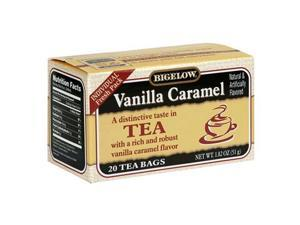 Bigelow Vanilla Caramel Tea, 20-Count Boxes (Pack of 6)