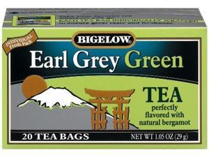 Bigelow Earl Grey Green Tea, 20-Count Boxes (Pack of 6)