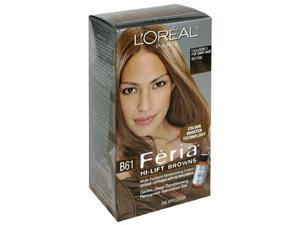 L'Oreal Feria Hi-Lift Browns Multi-Faceted Shimmering Colour, Level 3 Permanent, Hi-Lift Cool Brown B61