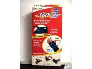 Acu Life 360 Hot & Cold Therapy Wrist Brace, Adjustable, 1 ea