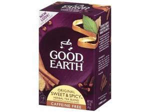 Good Earth Original Sweet & Spicy  Caffeine Free    Tea Bags, Net Wt 1.4 Oz  18-Count, Boxes (Pack of 6)
