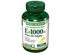 Nature's Bounty Pure dl-Alpha Vitamin E, 1000 IU, Softgels, 60 ct.