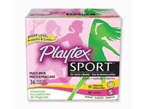 Playtex Sport Tampon Multipack, Unscented, 36 Count