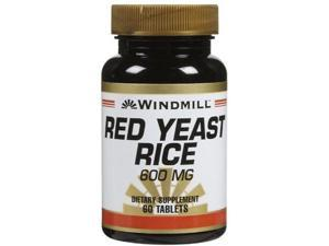 Windmill Red Yeast Rice 600 mg Tabs, 60 ct