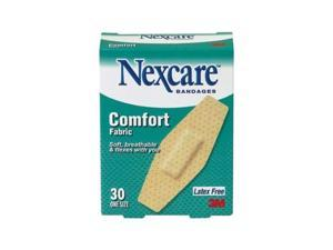 Nexcare Comfort Flexible Fabric Bandage, One Size, 30 ct Packages (Pack of 4)