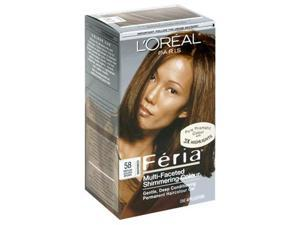 Feria Multi-Faceted Shimmering Color 3X Highlights#58 Medium Golden Brown-Warmer - 1 Application Hair Color