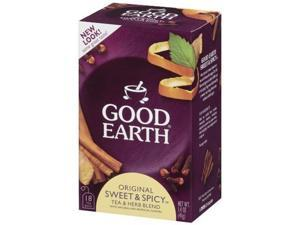 Good Earth Original Sweet & Spicy, 18-Count Tea Bags, 1.4 oz. Boxes (Pack of 6)