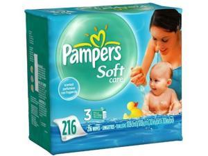 Pampers Soft Care Baby Fresh Wipes Refills, Scented, 3 ct.