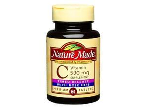 Nature Made Time-Release Vitamin C with Rose Hips, 500 mg (60 Tablets)