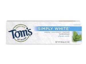 NEW Simply White-Clean Mint - Tom's Of Maine - 4.7 oz - Gel