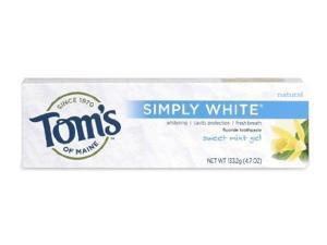 NEW Simply White-Sweet Mint - Tom's Of Maine - 4.7 oz - Gel