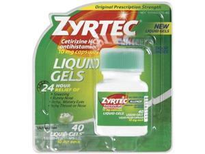 Zyrtec Liquid Gels, 40 Count