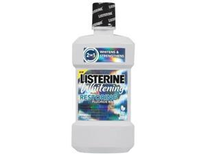 Listerine Fluoride Rinse, Post-Brush, Whitening, Plus Restoring, Clean Mint 3...