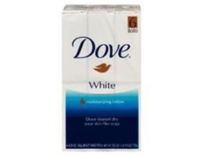 Dove Beauty Bar Soap, White 4.25 Oz 6 Ea