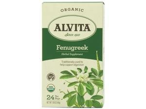 Alvita Tea Bags, Fenugreek Seed, 24 Count
