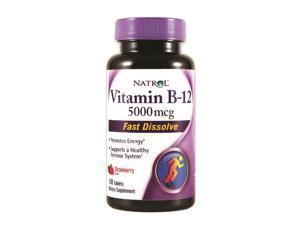 Natrol Vitamin B12 HFF Fast Dissolve Nutritional Supplements, 5000 mcg, 100 Count