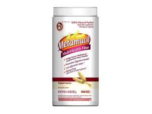 Metamucil Psyllium Fiber Supplement Original Sugar Coarse Texture Powder 114 Doses