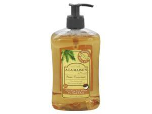 A La Maison Traditional French Milled Liquid Soap, Pure Coconut - 16.9 Oz