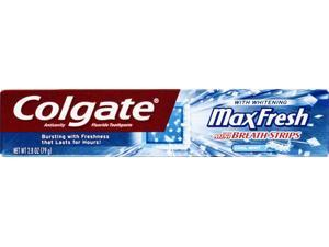 Colgate Maxfresh Cool Mint Anticavity Fluoride Toothpaste 2.8 Oz.
