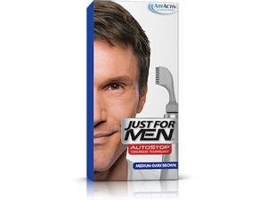 Just For Men Auto Stop Hair Color Medium-Dark Brown # A-40 - 1 Application Hair Color