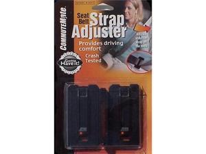 CommuteMate Seatbelt Strap Adjusters - car / truck seatbelt adjuster interior safety (2 adjusters)