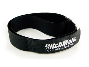 """4 Pack - HitchMate Black QuickCinch Velcro Straps - 1"""" Wide, 21"""" Long"""