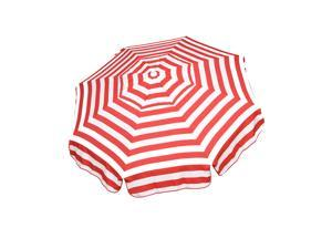 Italian 6 ft Umbrella Acrylic Stripes Red and White - Patio Pole
